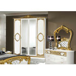 Chambre capitonné blanc doré SIBILLA-3
