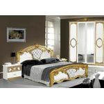 Chambre capitonné blanc doré SIBILLA-2