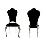 Chaises chromé baroque noir UDO.1