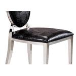 Chaises chromé médaillon croco noir NEO.1