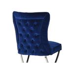 Chaises design capitonné bleu ENZO.2