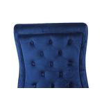 Chaises design capitonné bleu ENZO.3