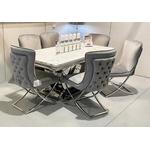 Chaises design capitonné gris ENZO.2