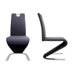 Chaises designs chromé noir AÉRIS.1