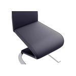 Chaises designs chromé noir AÉRIS.2