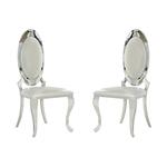 Chaises médaillon chromé blanc ÉVI.1