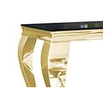 Console doré verre noir NEO.1