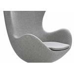 Fauteuil design œuf tissu gris EGGO.1