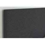 Lit double tissu noir SOFT.10