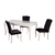 Table repas 4 chaises noir BAROK-1