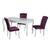 Table repas 4 chaises mauve BAROK-1