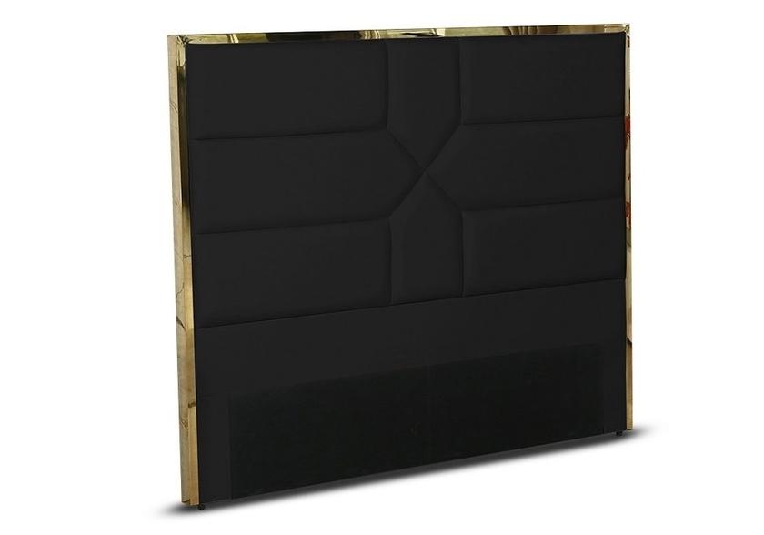 Tete de lit design laiton noir LINAÉ.3