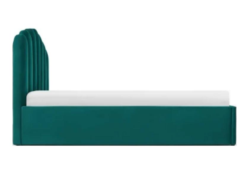 Lit coffre capitonné velours vert CARLA.6