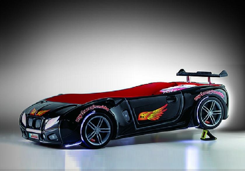 Lit enfant voiture course noir R1 Le Cadeau Qui Lui Fera Plaisir.