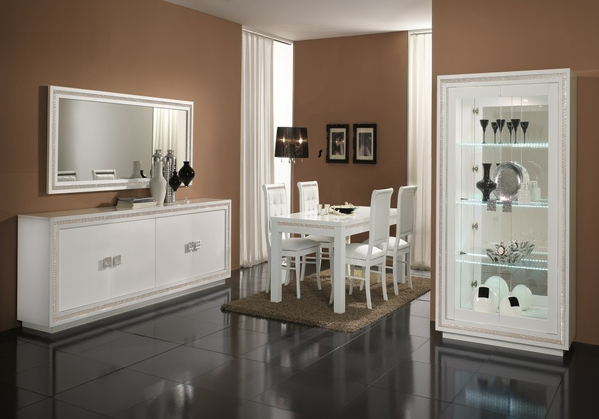 salle-a-manger-complete-design-laque-blanc-led-prestige