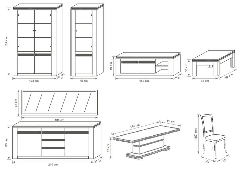 meubles-salle-a-manger-laque-blanc-Éclairage-riva