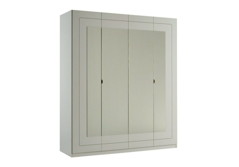 armoire 4 portes laqu blanc alaska design rangement pratique. Black Bedroom Furniture Sets. Home Design Ideas