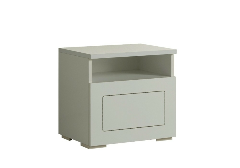Table chevet design laqu blanc alaska commode chevet - Table de chevet miroir pas cher ...