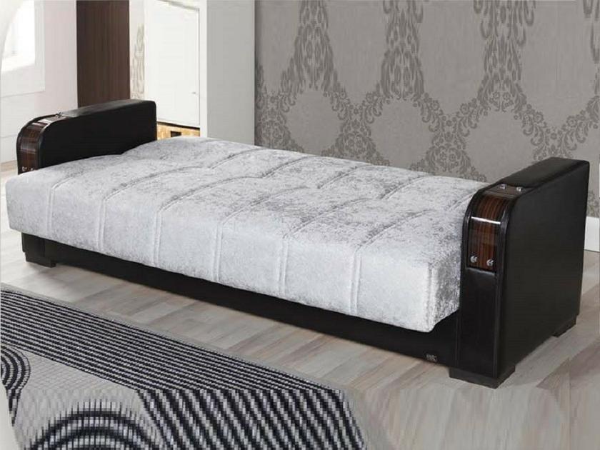 canap lit coffre gris star rangement pratique tr s confortable. Black Bedroom Furniture Sets. Home Design Ideas