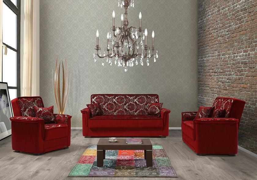 canapé-lit-coffre-tissu-rouge-mega