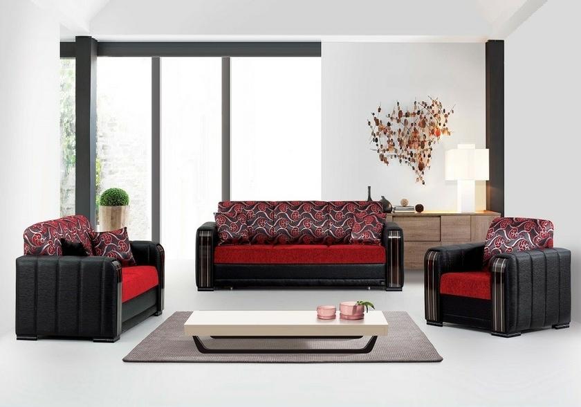 canapé-convertible-lit-noir-rouge-sonia