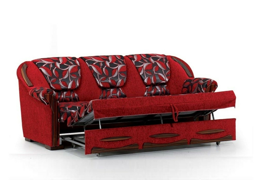 canap convertible lit rouge efes tr s confortable prix sobre. Black Bedroom Furniture Sets. Home Design Ideas