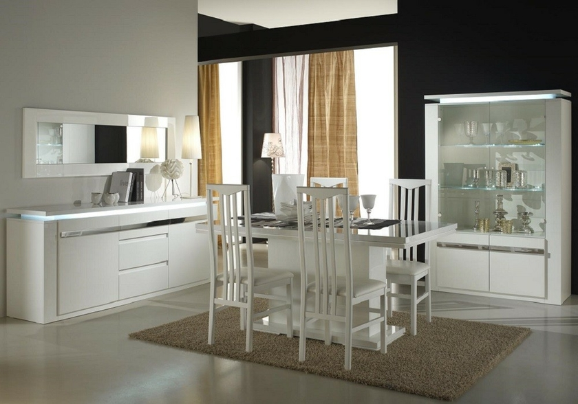 vitrine meuble tv laqu blanc riva design tendance s jour chic. Black Bedroom Furniture Sets. Home Design Ideas