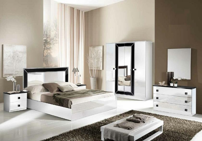 Chambre Complete Laque Blanc Idea Design Qualite Italy Pas Cher