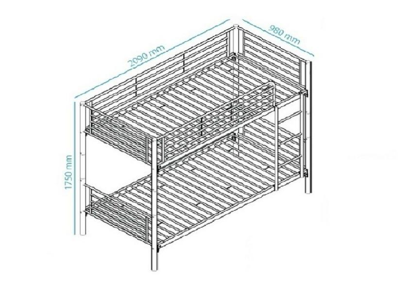 lits superpos s m tal blanc jasmine lit superpos. Black Bedroom Furniture Sets. Home Design Ideas