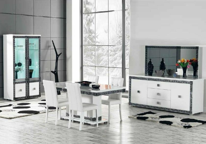 Salle manger laqu versace design tendance moderne pas for Tendance meuble salle a manger 2014
