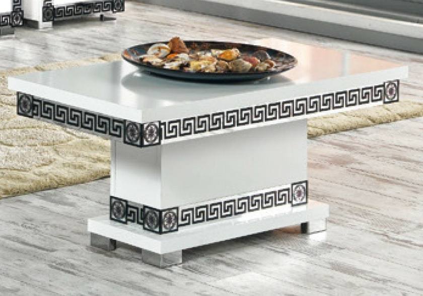 Vitrine meuble tv blanc versace mur tv living design - Meuble versace ...