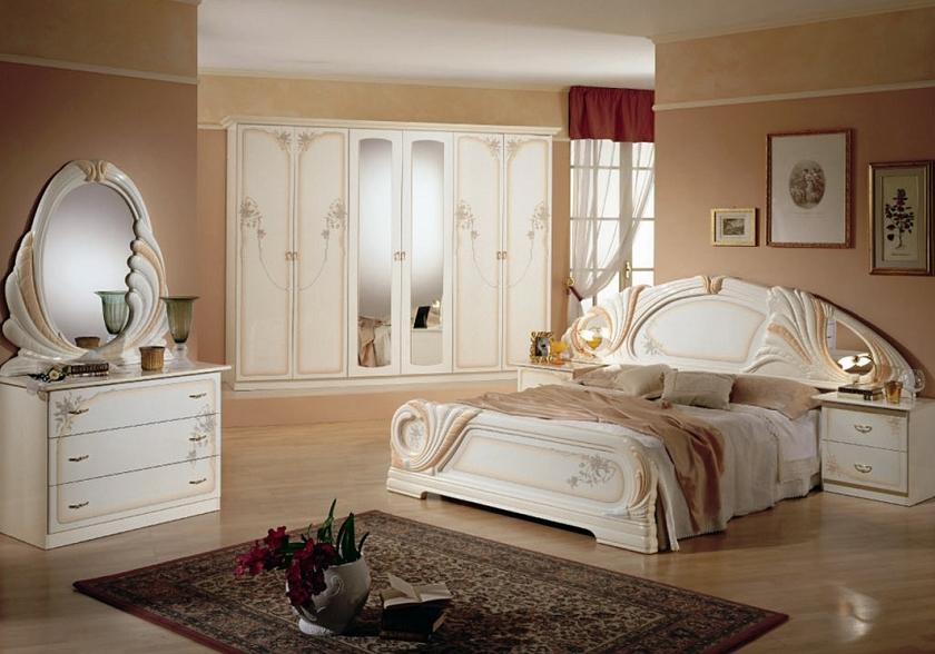 Chambre complète laqué blanc LORY Ligne Chambre Tendance & Chic..