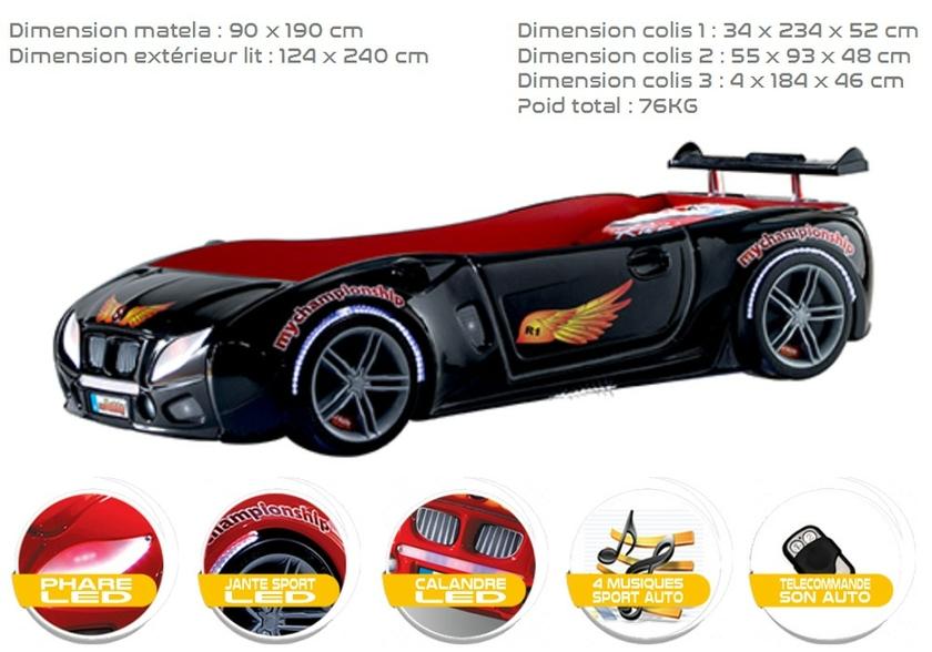 lit voiture de course elegant lit voiture de course with lit voiture de course affordable lit. Black Bedroom Furniture Sets. Home Design Ideas