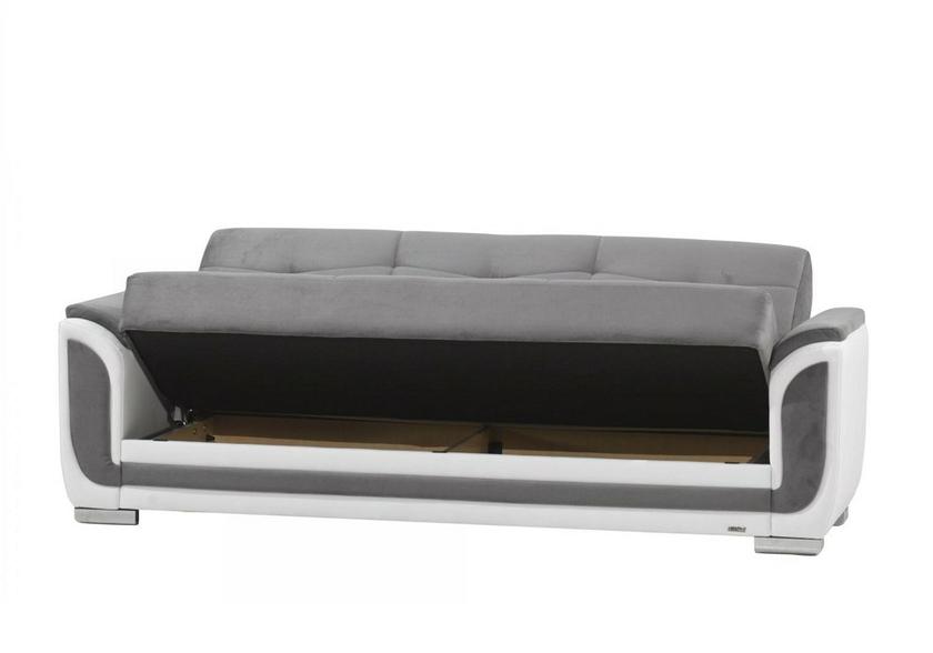 canap lit coffre tissu gris hilton canap salon tissu. Black Bedroom Furniture Sets. Home Design Ideas