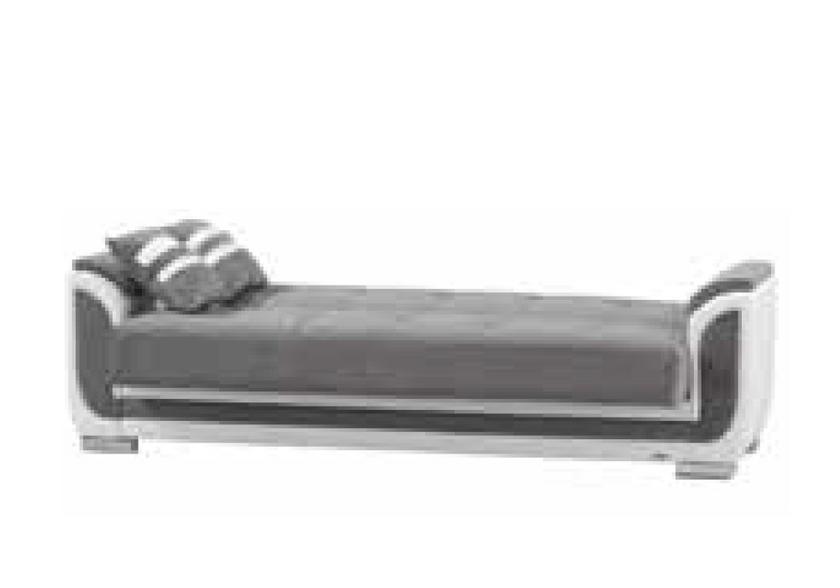 canap lit coffre tissu gris hilton canap salon tissu pas cher. Black Bedroom Furniture Sets. Home Design Ideas