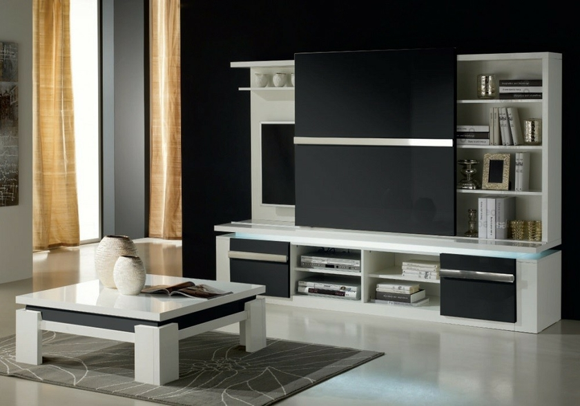 table-basse-design-laque-blanc-noir-riva