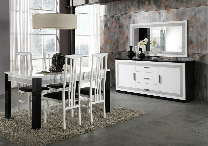 meubles-salle-a-manger-laque-noir-blanc-strass-tea