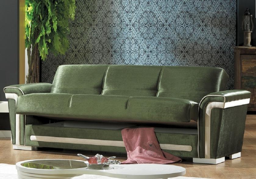 canapé-lit-coffre-tissu-velours-vert-alya