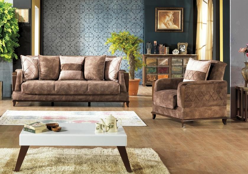 canap lit coffre marron tone chic et confortable. Black Bedroom Furniture Sets. Home Design Ideas