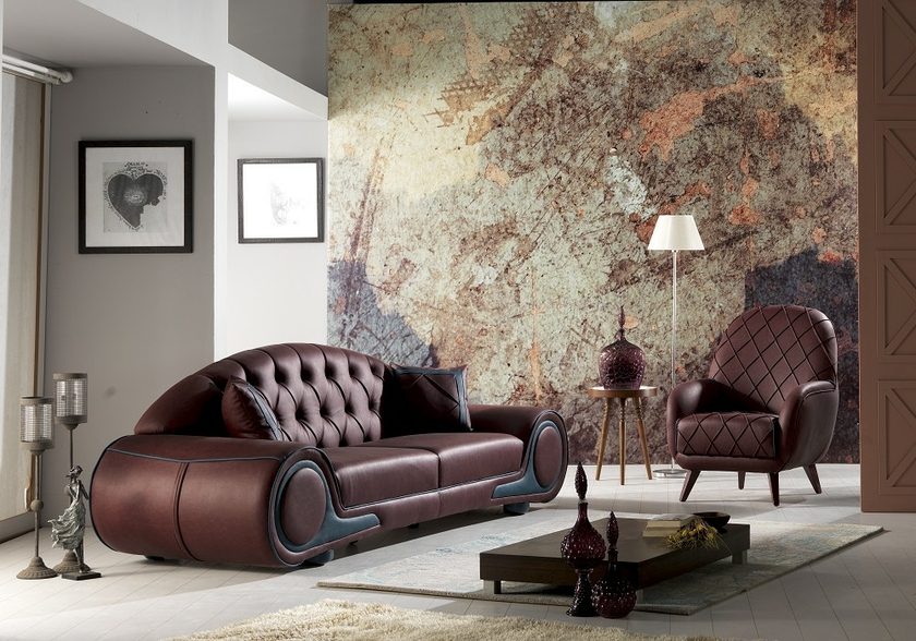 canap simili cuir bordeaux cenzo le chester au coupe raffin e. Black Bedroom Furniture Sets. Home Design Ideas