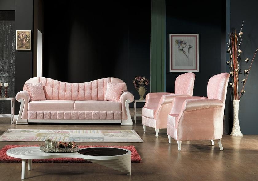 canap lit velours rose harem chic et a bas prix. Black Bedroom Furniture Sets. Home Design Ideas