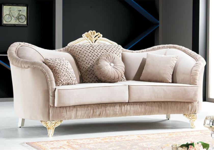 canap baroque velours taupe ekru optez pour un style baroque. Black Bedroom Furniture Sets. Home Design Ideas