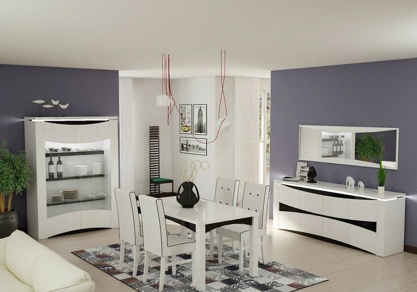 Salle à manger laqué blanc VELA Design Moderne Pas Cher Découvrir
