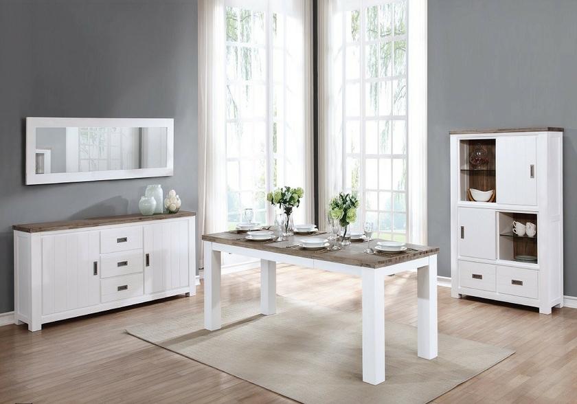 Salle manger bois acacia patin e toscane design tendance nature - Meuble toff salle a manger ...
