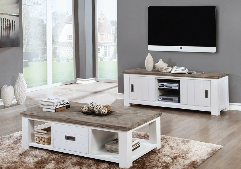 vitrine meuble tv bois acacia patin e toscane design tendance. Black Bedroom Furniture Sets. Home Design Ideas