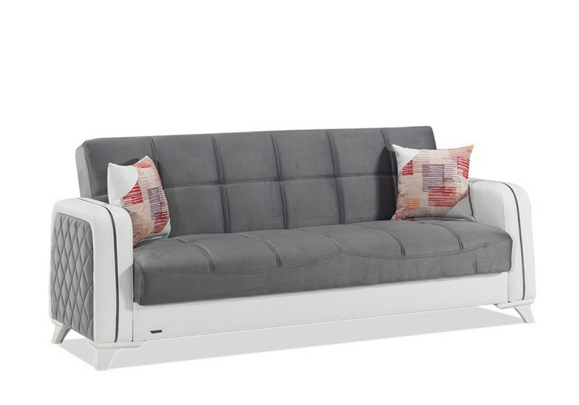 canap lit coffre gris elite canap banquette clic. Black Bedroom Furniture Sets. Home Design Ideas
