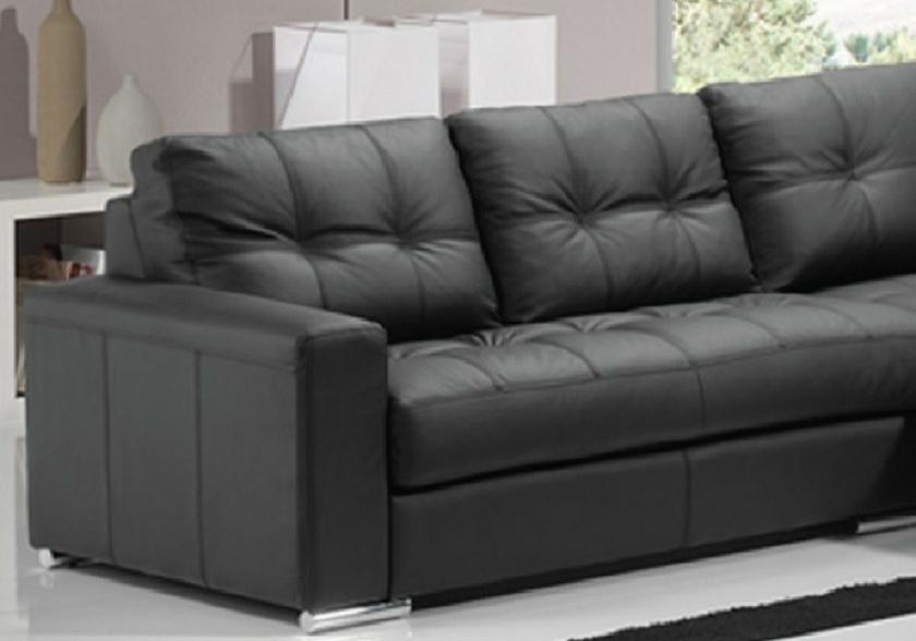 canap cuir noir convertible lit alexie canap salon cuir chic. Black Bedroom Furniture Sets. Home Design Ideas