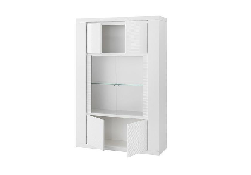 Stunning meuble salle a manger laque blanc pictures for Meuble salle a manger led