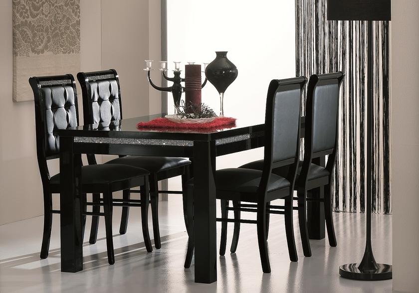 Table A Manger Et Chaise Noir Strass Prestige Table Chaise