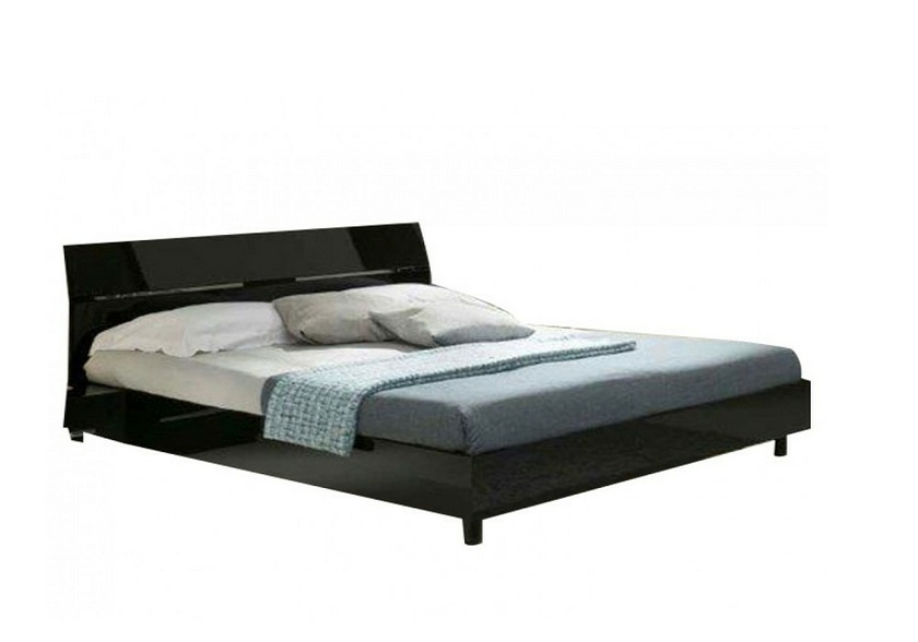 chambre 224 coucher laqu233 noir gloria design moderne chic